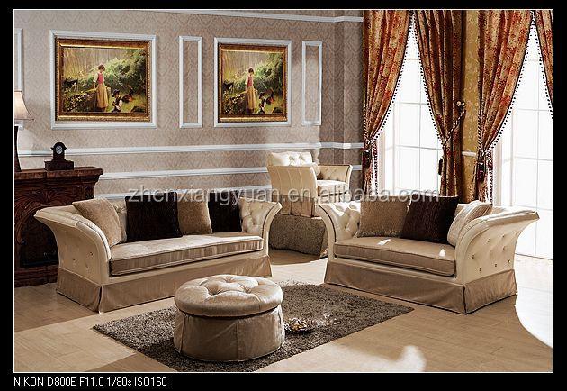 2015 Living Room Furniture Royal Furniture Wooden Frame Fabric Sofa Set