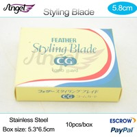 Free shipping 10 boxes Stainless steel alternating blade Feather styling razor Blade Salon Hairdressing Shaping Razor blades