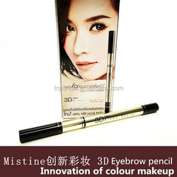 2015 Mistine 3D Eyebrow set Waterproof eyebrow cosmetic pencil with brush