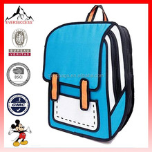Hot selling school backpack3d three-dimensional style for children 3d school backpack(ES-H145)