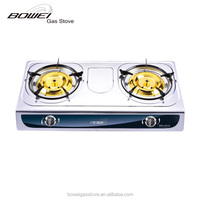 Supplier of China 2 burner professional design gas stove auto ignition