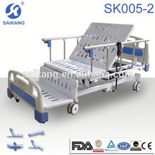 ICU Patient Nursing Bed With Powder coated steel side rail