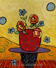 excellent modern handmade canvas flower oil painting ct-357
