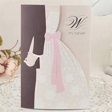 Trial order welcome popular fancy wedding invitation card 2015