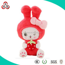 Hand Made High Quality Soft Cute plush japanese cat For Promotional Gift