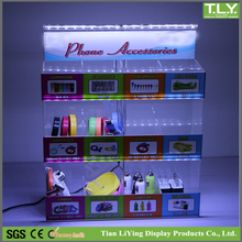 Acrylic Mobile Phone Accessories Counter Display with LED lights