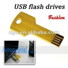 key shape portable 1gb-64gb full capacity mini usb flash pen drive usb flash drive