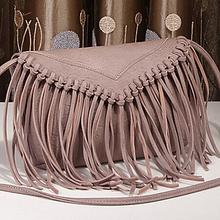 New arrival girls real leather tassel school bags cross body shoulder bags EMG4209
