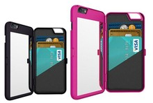 BRG Shockproof Mobile phone Case, with Mirror & 3 Credit Card Holder for iPhone 6 Plus 5.5 inch Case