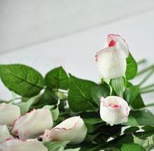 de la boda flor color de rosa decoración toque real de tela decoración de flores