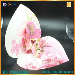 Made in China 3D heart shaped wedding invitation card