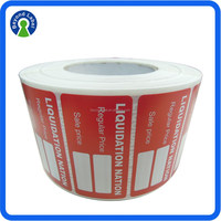 High Quality Waterproof Label Sticker Printing, Roll Self Adhesive Easy Peel Off Labels