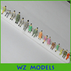 1;87 plastic architecture sitting figure/ miniature various sitting model figure