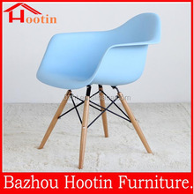 High quality 2015 wood legs and plastic Dining Wood Chair