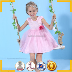High quality tutu dress Fashion design Pink dresses for girls of 8 years old