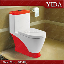 red and white toilet suites, mix red toilet bowl, china wc color