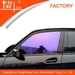 Manufacturer sales purple dazzle car window film/chameleon solar car window film/glass safety film