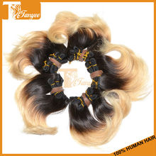 New Short Hair 6 Inch Grade 5A Mongolian Human Virgin Body Wave Ombre Hair Extensions Two Tone Color 1B/613# Blonde Hair Weave