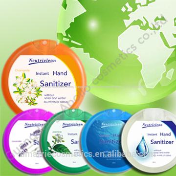 bouteille en plastique antiseptique poche instant désinfectant pour les mains sans eau désinfectant pour les mains en vrac