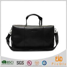 CSLRB055-001-2016 Black Classic Style Large Wholesale duffel bag Men genuine Leather Travel Bag