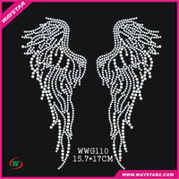Bling Bling Luxury Crystal Wings Designs Wholesale Stock Heat Transfers