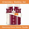 designs 2015 new product hand embroidery bed sheet