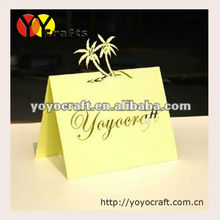 2014 best sell!Handmade Wedding Place Table Card