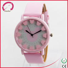 Different style beautiful leather watch,fancy child wrist watch