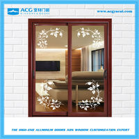 Aurable aluminum sliding doors interior with grill design