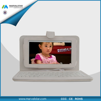 2014 popular low price with high quality 10.1 tablet leather case with keyboard