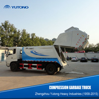 China 3 Ton Small Refuse Compactor Garbage Trucks
