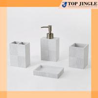 Square Modern Resin white Bathroom Set