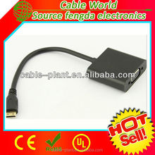 Factory price new products mini DisplayPort male to vga female dongle cable adapter