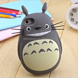 Newest Design 3D Totoro Silicone Case For iPhone 6 Plus ,For iPhone 6 3d Totoro Case