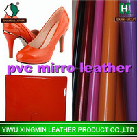 pvc mirror leather for bags shoes belt