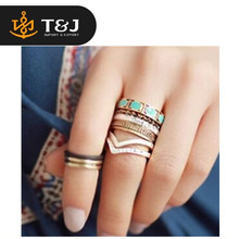 >>2015 fashion high quality Vintage Punk Style 8pcs/lot Metal Ring Hollow Out Band Midi Finger Knuckle Ring Set-