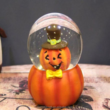 Hallween gift resin carton Pumpkin halloween snow globe