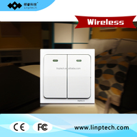 Linswitch Fluorescent Light Two gang One way Kinetic energy self-powered Wireless Remote Switch