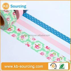 hot-seller custom printed reducing surface scratch washi masking tape