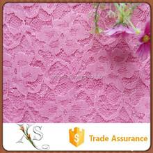 China Supplier Princess Dress Fabrics Pink Lace Embroidery Fabric