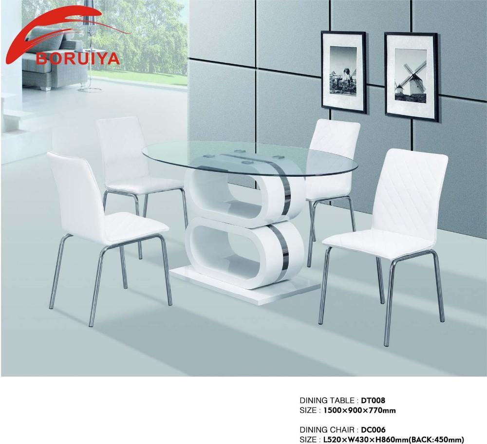 Dining room set modern glass dinette tables buy modern for Modern glass dining room sets