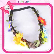 2015 wig headband with flower for girls