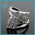señoras anillo de circón baratos de moda de plata anillo de boda