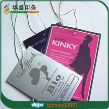 Fashional custom paper garment hair hang tags