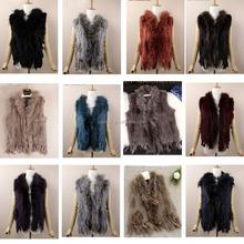 2015 fashion winter rabbit fur vest for women