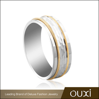 OUXI fahsion ring funny stainless steel ring surgical steel engagement rings