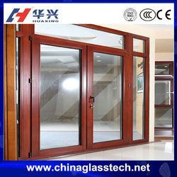 CE certificate double glazed glass thermal break &normal powder coated white/black /grey color aluminum casement door