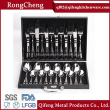 18/0 and 18/8 Stainless Steel Cutlery Set with Wooden Case