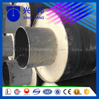 buried underground calcium silicate and pu foam insulated high heat resistance insulation pipe for steam