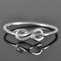 Fashion 925 Sterling Silver Infinity Ring